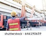 one people use crane hand...   Shutterstock . vector #646190659