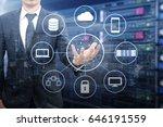 double exposure of professional ... | Shutterstock . vector #646191559