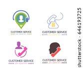 customer service apps  vector... | Shutterstock .eps vector #646193725