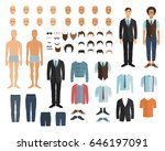 male character in flat style.... | Shutterstock .eps vector #646197091