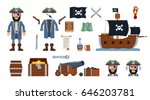 pirate captain with diverse... | Shutterstock .eps vector #646203781
