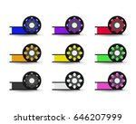 vector set flat color spool for ... | Shutterstock .eps vector #646207999