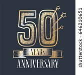 50 years anniversary vector... | Shutterstock .eps vector #646210651