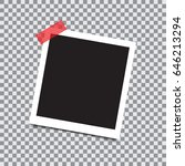 empty retro photo frame with... | Shutterstock .eps vector #646213294
