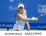 Small photo of HUA HIN, THAILAND-MAY 8:Michaela Haet of Australia returns a ball during Day 1 of ITF Thailand Women's Pro Circuit on May 8, 2017 at True Arena Hua Hin in Hua Hin, Thailand
