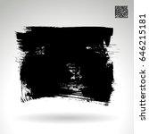 black brush stroke. grunge... | Shutterstock .eps vector #646215181