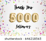 5000 followers thank you gold... | Shutterstock . vector #646218565