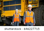worker in front of a bug truck | Shutterstock . vector #646227715