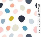 pastel powder pink  navy blue ... | Shutterstock .eps vector #646237609