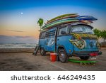 surfer's peace bus  may 2017 ... | Shutterstock . vector #646249435