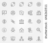leasing and loan icons set.... | Shutterstock .eps vector #646263511