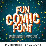 colorful comic font on blue... | Shutterstock .eps vector #646267345