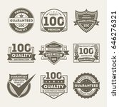 premium quality guaranteed... | Shutterstock .eps vector #646276321