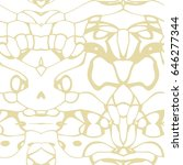 seamless abstract pattern in... | Shutterstock . vector #646277344