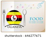 food logo made from the flag of ... | Shutterstock .eps vector #646277671