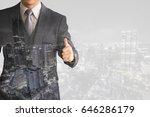 double exposure image.business... | Shutterstock . vector #646286179