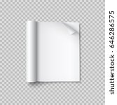 realistic blank open magazine... | Shutterstock .eps vector #646286575