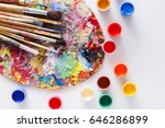 artist's palette with colorful...   Shutterstock . vector #646286899
