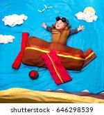 infant baby boy wearing an... | Shutterstock . vector #646298539