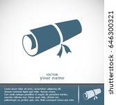 manuscript vector icon  | Shutterstock .eps vector #646300321