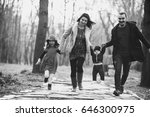 happy family walking and having ... | Shutterstock . vector #646300975