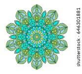 flower mandalas. vintage... | Shutterstock .eps vector #646301881
