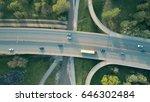 evening highway traffic. aerial ...   Shutterstock . vector #646302484