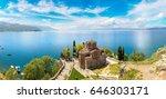 jovan kaneo church in ohrid in... | Shutterstock . vector #646303171
