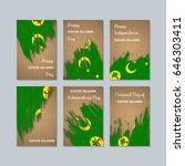 cocos islands patriotic cards... | Shutterstock .eps vector #646303411