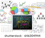 sketches visions and plans for... | Shutterstock . vector #646304944