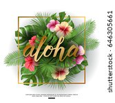 vector illustration of aloha... | Shutterstock .eps vector #646305661