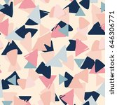 seamless pastel geometric... | Shutterstock .eps vector #646306771