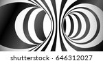 vector circles surface optical... | Shutterstock .eps vector #646312027