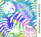 seamless pattern with bright ... | Shutterstock .eps vector #646319101