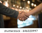 shake hand is agreement to do... | Shutterstock . vector #646320997