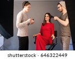 hairdresser and make up artist... | Shutterstock . vector #646322449