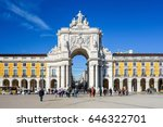 lisbon  portugal.  january 11 ... | Shutterstock . vector #646322701