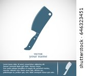 meat cleaver knife   vector icon | Shutterstock .eps vector #646323451