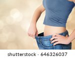 thin woman in big pants  ... | Shutterstock . vector #646326037
