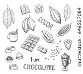 vector set of hand drawing of...   Shutterstock .eps vector #646327084