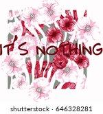 flower illustration for printed ... | Shutterstock .eps vector #646328281