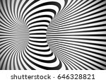 black and white stripes loop... | Shutterstock .eps vector #646328821