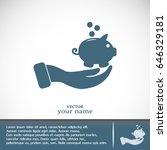vector icon saving  piggy bank | Shutterstock .eps vector #646329181