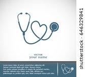 stethoscope vector icon   Shutterstock .eps vector #646329841