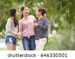 vietnamese teen girl with... | Shutterstock . vector #646330501