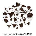 cracked chocolate chips from... | Shutterstock . vector #646334701