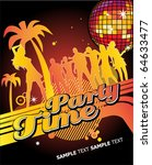party time. editable vector... | Shutterstock .eps vector #64633477