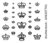 crown vector logo | Shutterstock .eps vector #646337701