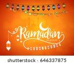 illustration of ramadan kareem... | Shutterstock .eps vector #646337875