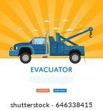 website design with tow truck....   Shutterstock .eps vector #646338415